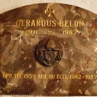 Belon Gellért síremléke a pécsi püspöki kriptában.